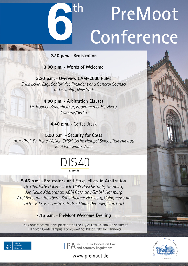csm 6th PreMoot Conference Program